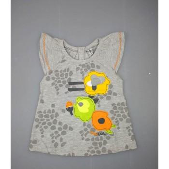 Canotta t-shirt maglia maglietta manica giro bimba neonato bambina Tuc Tuc grigio