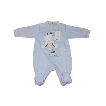 Tuta tutina cotone bimbo neonato Will B cielo
