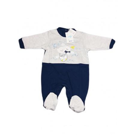 Tuta tutina cotone bimbo neonato Will B grigio