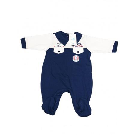 Tuta tutina cotone bimbo neonato Will B blu