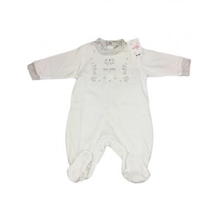 Tuta tutina cotone bimba neonato Will B bianco