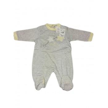 Tuta tutina cotone bimbo bimba neonato Will B grigio giallo