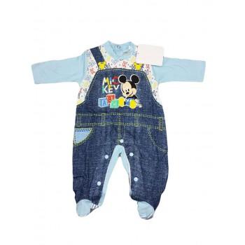 Tuta tutina cotone bimbo neonato Disney baby Mickey Mouse cielo