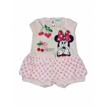 Pagliaccetto tutina bimba neonato Ellepi Disney baby Minnie rosa