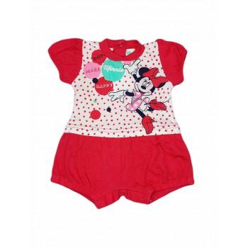 Pagliaccetto tutina bimba neonato Ellepi Disney baby Minnie fucsia