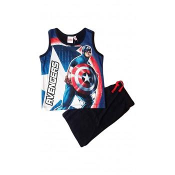 Completo canotta pantaloncino bimbo bambino Avengers blu