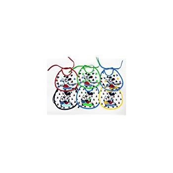 Confezione 6 pezzi bavetta bavaglino bavagli bimbo neonato ellepi Disney baby Mickey