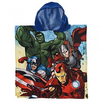 Poncho accappatoio telo mare bimbo spugna Avengers