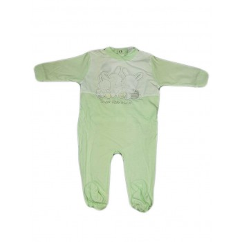Tuta tutina cotone bimbo neonato Ellepi verdino