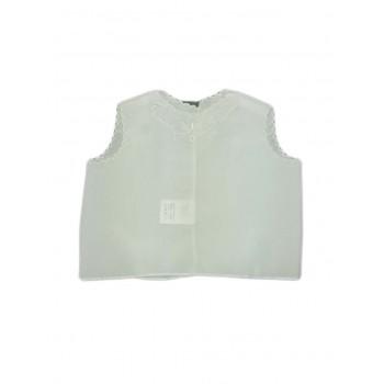 Camicia camicina della fortuna seta bimbo bimba neonato bianco Nancy Baby Prodotto in Italia
