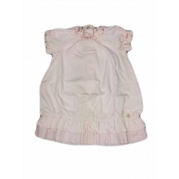 Abitino vestitino cotone bimba neonato Chicco bianco blu
