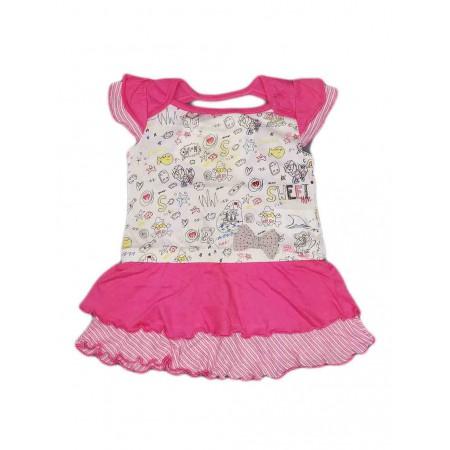 promo code 3bd8e d8bd7 Abitino vestitino cotone bimba neonato Chicco bianco rosa ...