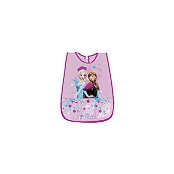 Copri grembiule bavetta pvc con tasche frontali  e  strappo postreriore bimba bambina Perletti  Disney Frozen rosa 99139