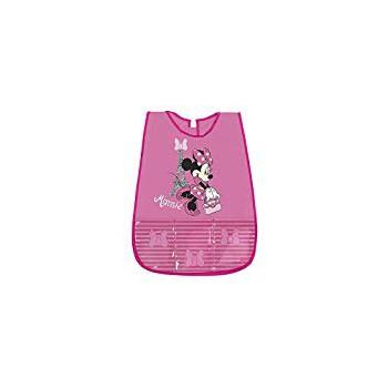 Copri grembiule bavetta pvc con tasche frontali  e  strappo postreriore bimba bambina Perletti  Disney Minnie rosa 99258