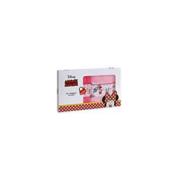 Set 2pz asciugamani  spugna 100% cotone Disney Minnie  rosa fucsia