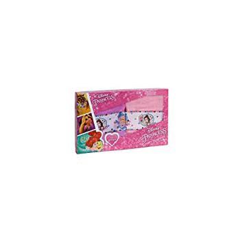 Set 2pz asciugamani  spugna 100% cotone Disney Principesse rosa glicine