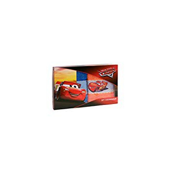 Set 2pz asciugamani  spugna 100% cotone Disney Cars arancio blu
