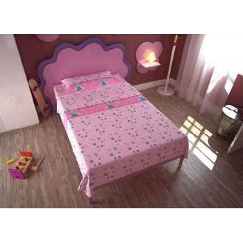 Completo lenzuola parure letto 3pz bambina piazza singola Disney Frozen