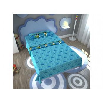 Completo lenzuola parure letto 3pz bambino piazza singola Disney Mickey