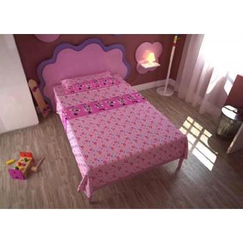 Completo lenzuola parure letto 3pz bambina piazza singola Disney Minnie