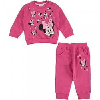 Completo tuta 2pz maglia maglietta pantalone bimba Disney baby Minnie fucsia