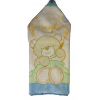 Baby sacco copertina coperta pile culla carrozzina bimbo neonato I Batuffolini celeste