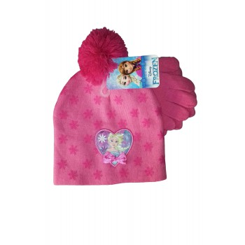 Set 2pz cappello cappellino guanti bimba bambina Disney baby Minnie ... a51861c0405b