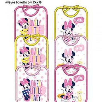 Confezione 6 pezzi bavetta bavaglino bavagli bimba neonato ellepi Disney baby Minnie