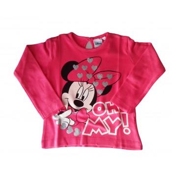 T-shirt maglia maglietta cotone bimba neonato Arnetta Disney baby Minnie fucsia