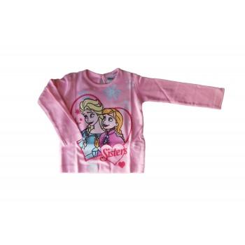 T-shirt maglia maglietta cotone bimba neonato Arnetta Disney baby Frozen fucsia