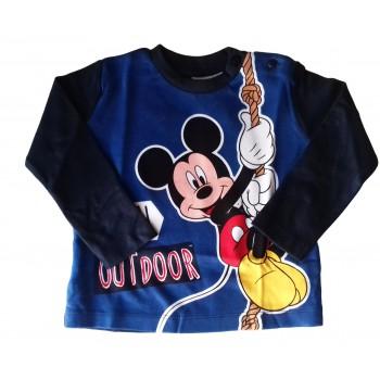 T-shirt maglia maglietta cotone bimbo neonato Arnetta Disney baby Mickey blu