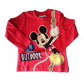 T-shirt maglia maglietta cotone bimbo neonato Arnetta Disney baby Mickey rosso