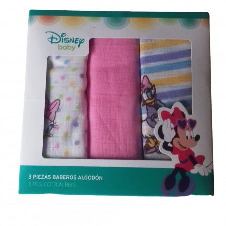 Confezione 3 pz quadrato neonato Disney baby Paperina bianco rosa