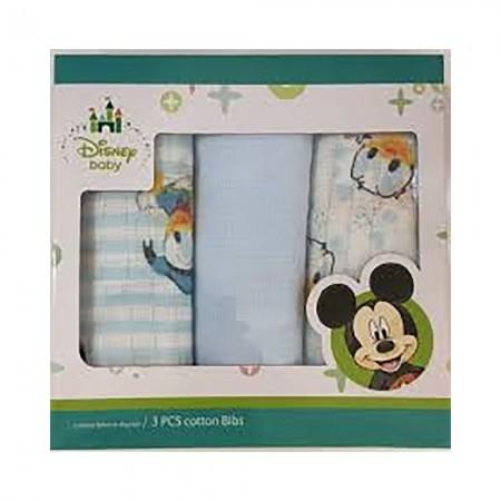 Confezione 3 pz quadrato neonato Disney baby paperino bianco cielo
