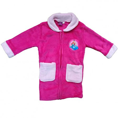 Vestaglia bimba bambina ciniglia Disney Principesse fucsia