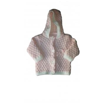 Cappottino cardigan lana bimba neonato La Rocca rosa