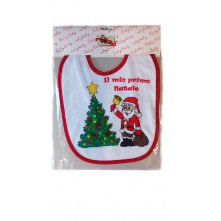 Bavetta bavaglino bavaglio Natale bimba bimbo neonato spugna RobyBaby