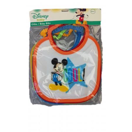 Confezione 6 pezzi bavetta bavaglino bavagli bimbo neonato Disney baby mickey
