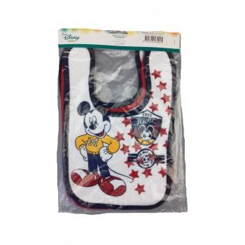 Confezione 3 pezzi bavetta bavaglino bavagli bimbo neonato ellepi Disney baby mickey