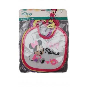 Confezione 6 pezzi bavetta bavaglino bavagli bimba neonata ellepi Disney baby Minnie
