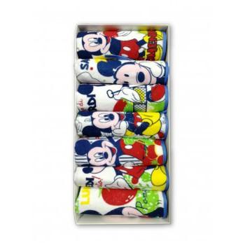 Confezione settimana 7 pezzi bavetta bavaglino bavagli bimbo neonato ellepi Disney baby Mickey