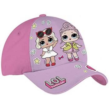 Cappello berretto con visiera bimba lol surprise