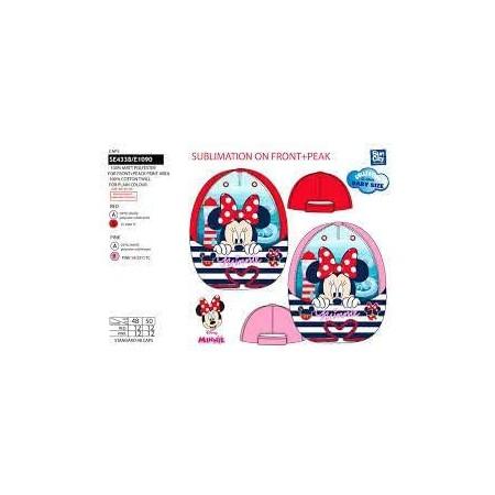 Cappello berretto con visiera bimba disney baby minnie rosso