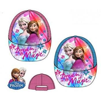 Cappello berretto con visiera bimba disney frozen azzurro