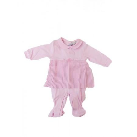 Tuta tutina cotone bimba pierre cardin rosa