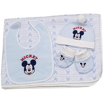 Set regalo 3pz bavetta bavaglino + cappellino + scarpine bimbo Disney baby Mickey