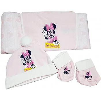 Set regalo 3pz bavetta bavaglino + cappellino + scarpine bimbo Disney baby Minnie