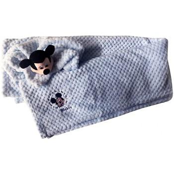 Set 2pz confezione regalo copertina coperta culla carrozzina con dou dou bimbo neonato Disney baby Mickey cielo