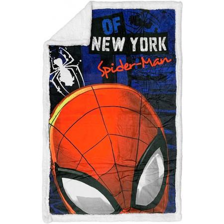 Plaid doppiato sherpa copertina coperta pile bimbo bambino spiderman