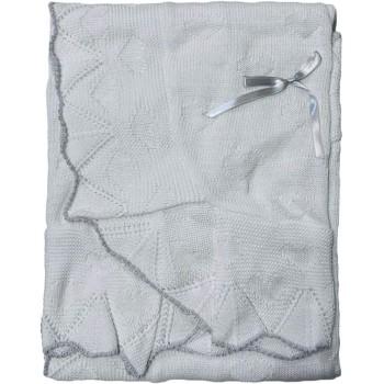 Copertina coperta scialle bimbo bimba neonato Nazareno Gabrieli bianco